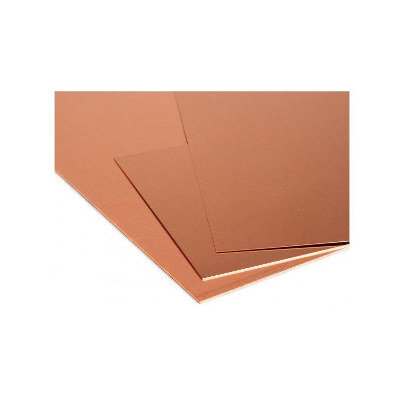Koperen plaat 1 mm platen Cu plaat dunne plaat selecteerbaar 100 mm tot 2000 mm, koper