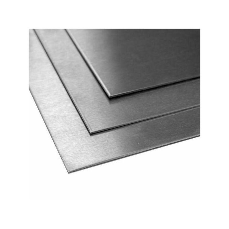 Titaniumplaat 1 mm 3.7035 Vellen van klasse 2 gesneden 100 mm tot 2000 mm, titanium