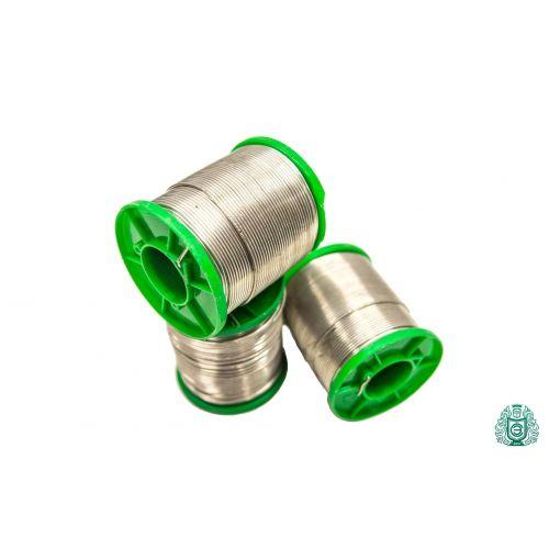 Soldeertin Sn99Cu1 dia 1.5mm met vloeistof 2.5% loodvrij 25gr-1kg, lassen en solderen