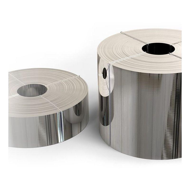 Roestvrijstalen tape 1.4301 folie 0,05x20 mm tot 0,4x200 mm V2A 304 plaatstalen strip