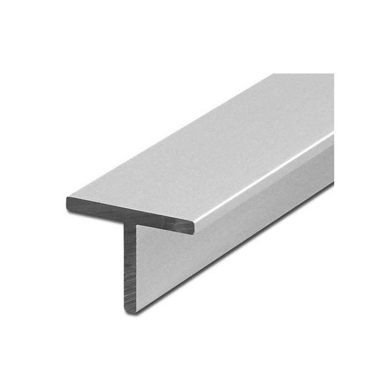 Aluminium T-profiel hoek gelijkbenig 40x40x5mm alu 0,25-2 meter
