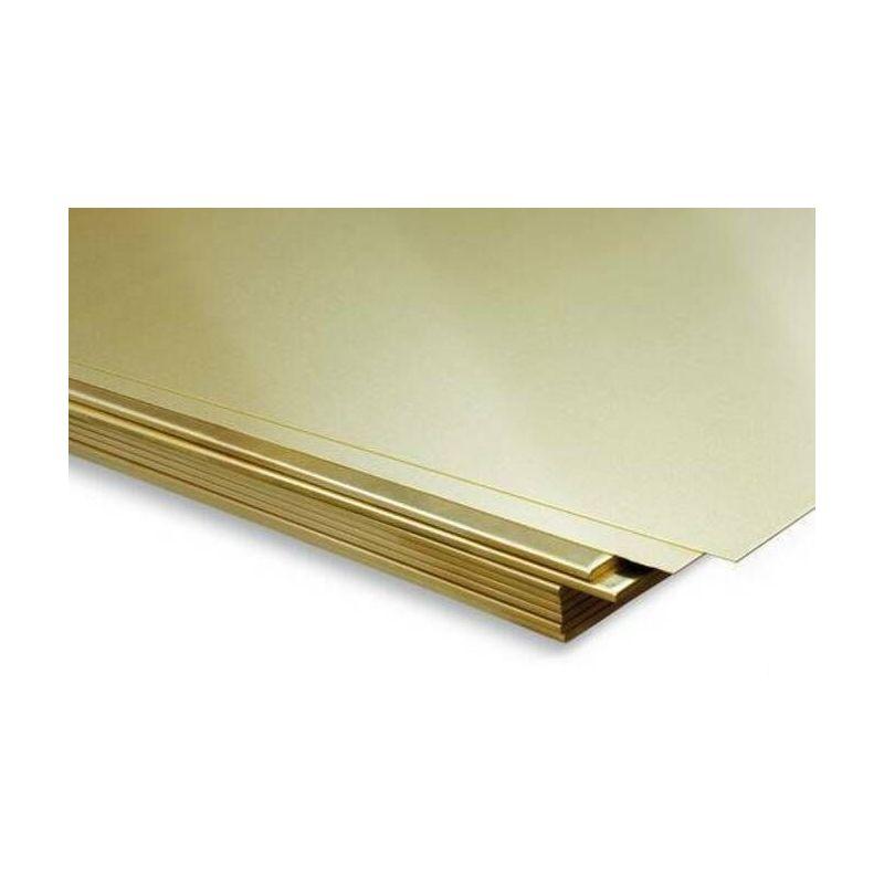 Messing plaat 2 mm platen plaat plaat dunne plaat selecteerbaar 100 mm tot 2000 mm