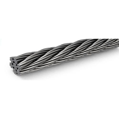 Roestvrij staaldraad dia 1-8 mm 1.4406 V4A 5-250 meter 7x7 en 7x19 staalkabel