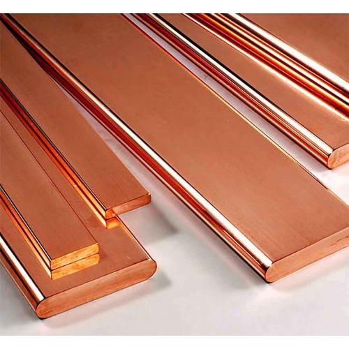 Koperen platte staaf 30x2mm-90x12mm stroken plaatstaal op lengte gesneden 1 meter