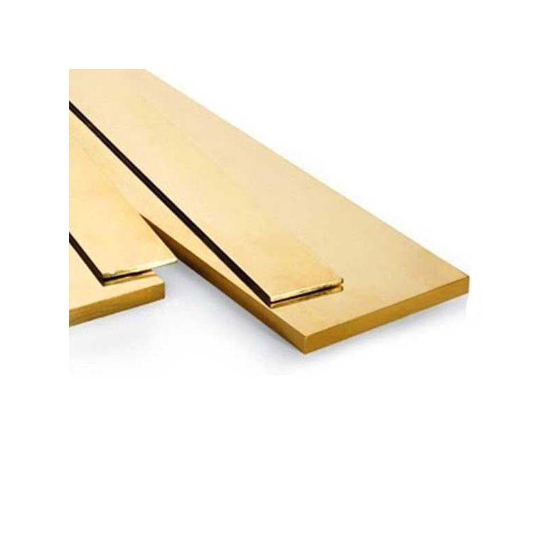 Messing platte staaf 30x2mm-90x10mm stroken plaatstaal gesneden op 0,5 tot 2 meter