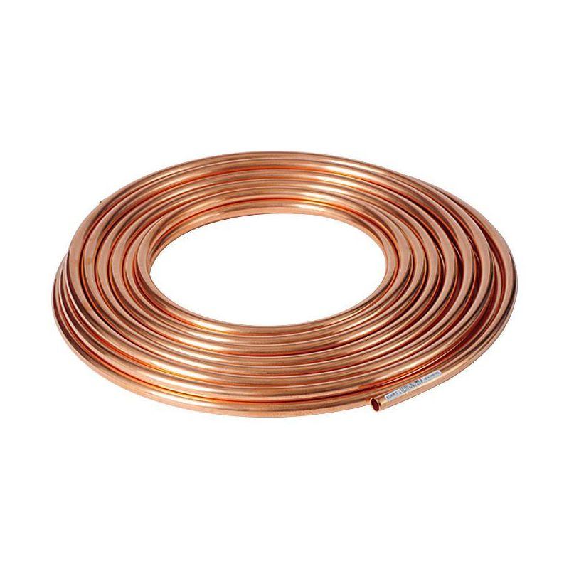 Koperen buis 3x0.5mm-4x1mm zacht gegloeid in het ringwater OLIE GAS verwarming 1-50 meter,  koper