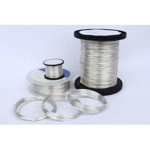 2-100 meter koperdraad, zilverdraad, ambachtelijke draad, sieraden, verzilverd Ø0,5-1,2 mm, koper